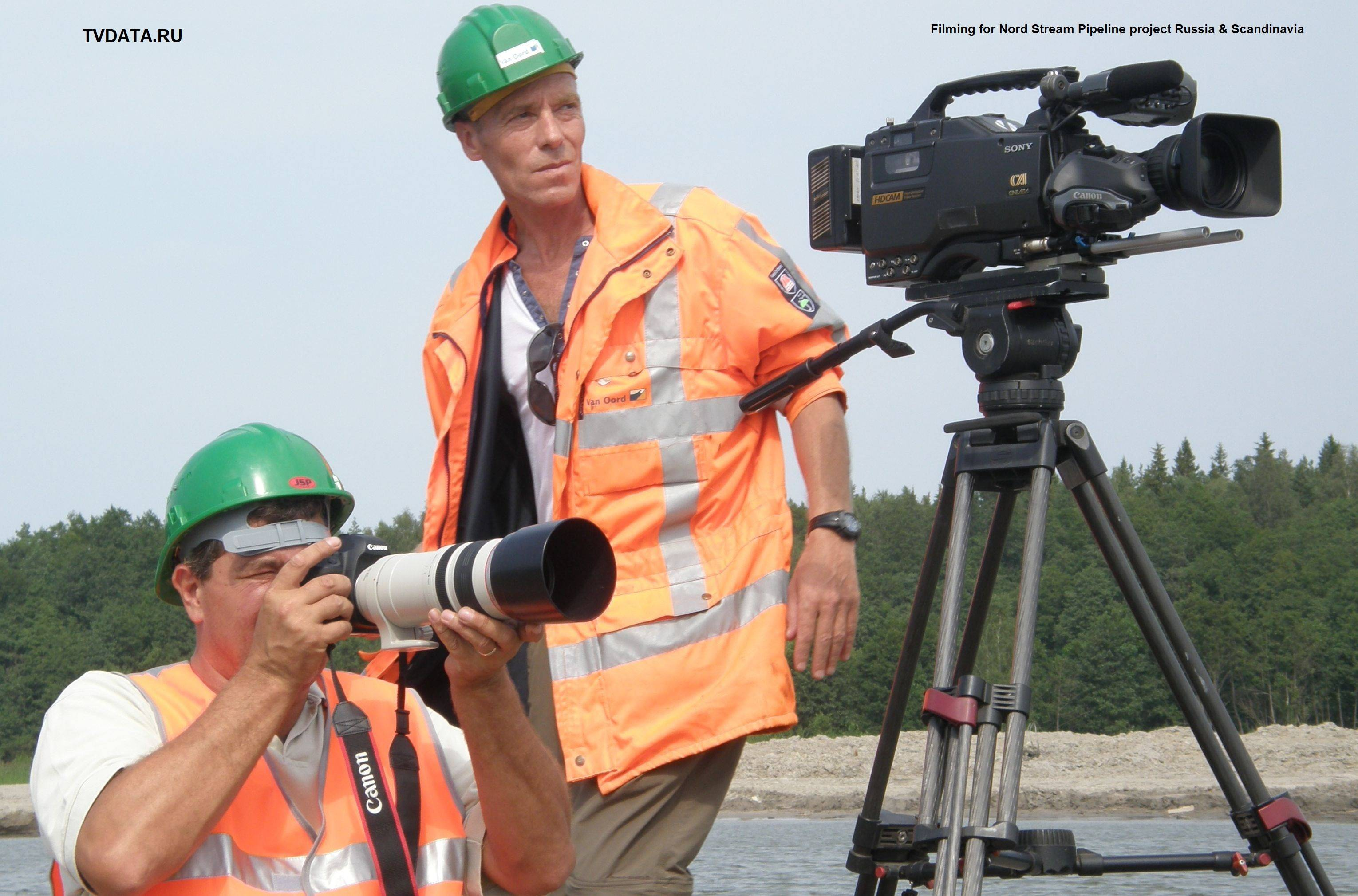 Filming for Nord Stream Pipeline project Russia & Scandinavia