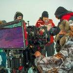 Filming at Lake Baikal