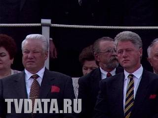 Bill Clinton in Moscow, with Boris Yeltsin