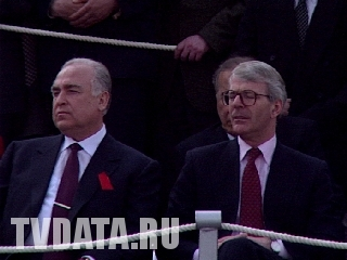 Sir John Major Prime Minister of the United Kingdom in Moscow