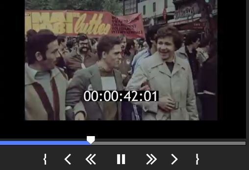 May Day demonstration in Paris in 1981. France. Stock Footage