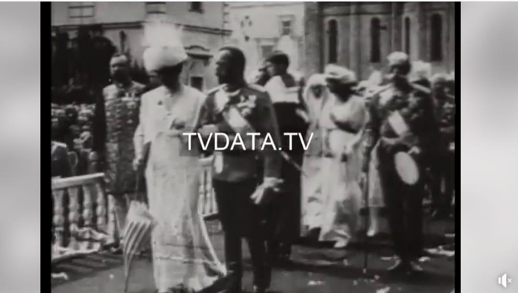 Czar Nicholas II stock footage