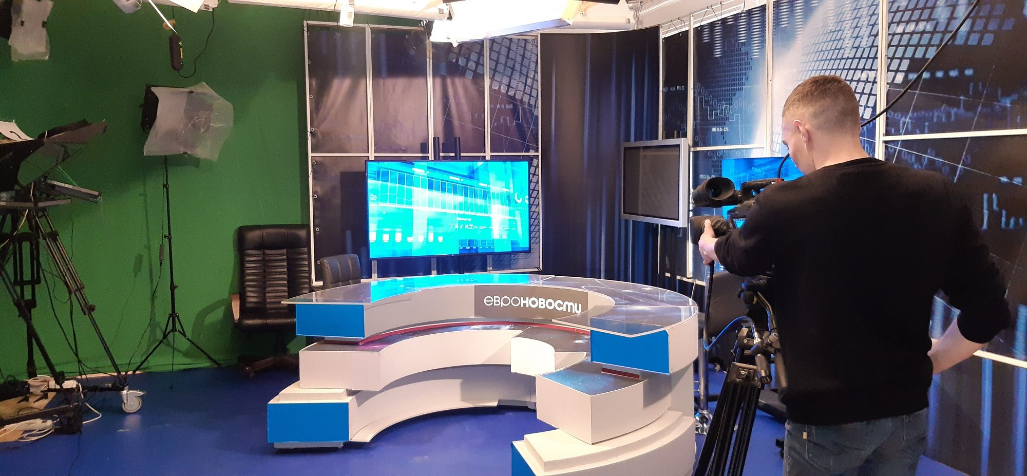 Multi-camera television studio in Moscow